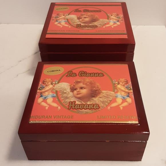 Vintage Pair Of Cigar Boxes